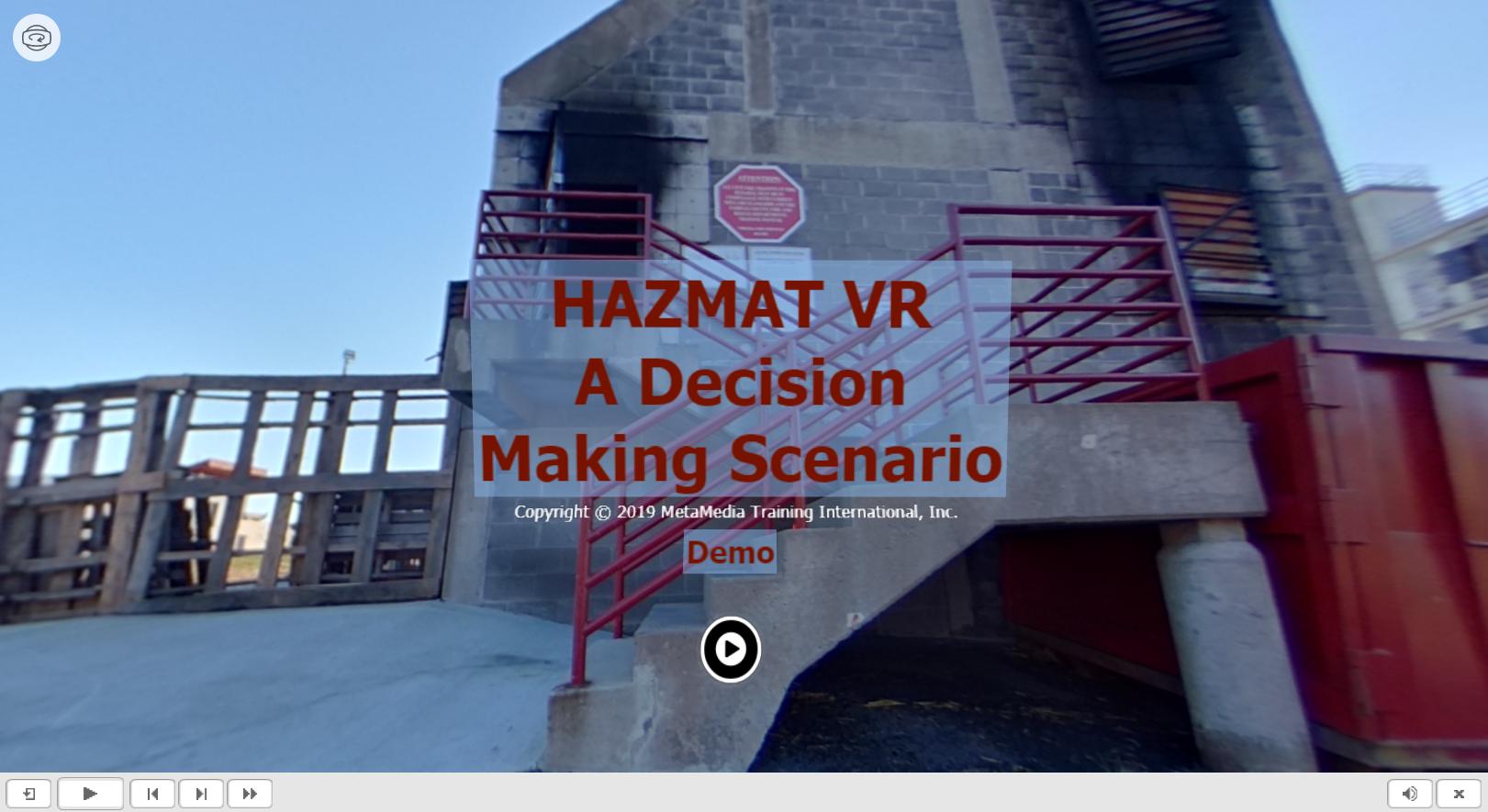 HAZMAT VR - A Decision Making Scenario